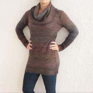 Anthro Michael Stars Cowl Neck Marled Sweater